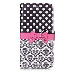 Недорогие Кейсы для iPhone-Кейс для Назначение Apple iPhone X / iPhone 8 Кошелек / Бумажник для карт / Флип Чехол Плитка / Кружева Печать Твердый Кожа PU для iPhone X / iPhone 8 Pluss / iPhone 8