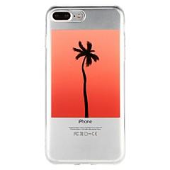 Недорогие Кейсы для iPhone 5-Кейс для Назначение Apple iPhone 6 iPhone 7 Полупрозрачный С узором Рельефный Кейс на заднюю панель дерево Мультипликация Мягкий ТПУ для