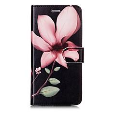 Недорогие Кейсы для iPhone 7 Plus-Кейс для Назначение Apple iPhone X iPhone 8 Бумажник для карт Кошелек Флип Магнитный С узором Чехол Цветы Твердый Кожа PU для iPhone X