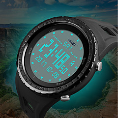 cheap Digital Watches-SKMEI Men's Digital Sport Watch Chinese Calendar / date / day Chronograph Water Resistant / Water Proof Noctilucent Dual Time Zones PU