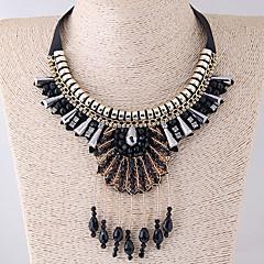 preiswerte Halsketten-Damen Kragen - Harz Tropfen Böhmische, Ethnisch, Modisch Schwarz Modische Halsketten Für Party