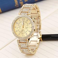 preiswerte Damenuhren-Damen Sportuhr Quartz Armbanduhren für den Alltag Cool Legierung Band Analog Luxus Freizeit Modisch Gold / Rotgold - Gold Rotgold