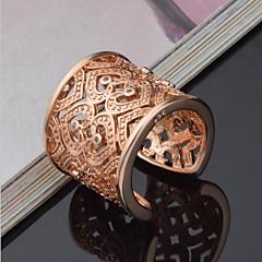 levne Prsteny-Dámské Vyzvánění / manžeta Ring - Stříbro, Štras Srdce, láska Luxus, Jedinečný design, Elegantní Nastavitelný Zlatá / Stříbrná Pro Svatební / Párty / Výročí