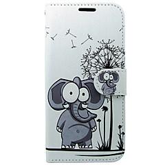 billige Etuier/covers til Huawei-Etui Til Huawei P10 Kortholder Pung Med stativ Flip Elefant Hårdt for Huawei