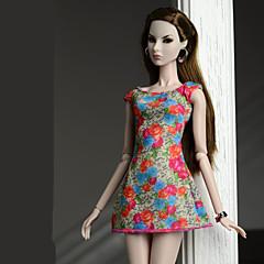 abordables Ropa para Barbies-Vestidos Vestidos por Muñeca Barbie  Naranja rojo Vestido por Chica de muñeca de juguete