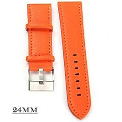 preiswerte Herrenuhren-JUBAOLI Herrn Damen damas Armbanduhr Quartz Armbanduhren für den Alltag Cool Leder Band Analog Orange / Gelb - Orange Gelb