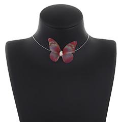 preiswerte Halsketten-Damen Halsketten / Ketten - Schmetterling Süß Purpur, Rosa, Leicht Grün Modische Halsketten Für Alltag, Festtage
