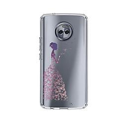 Недорогие Чехлы и кейсы для Motorola-Кейс для Назначение Motorola E4 Plus С узором Кейс на заднюю панель Соблазнительная девушка Мягкий ТПУ для Moto X4 / Moto E4 Plus / Moto E4