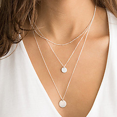 preiswerte Halsketten-Damen Anhängerketten / Lange Halskette - Modisch Silber, Golden Modische Halsketten Schmuck Für Party, Alltag, Normal