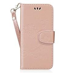 halpa Galaxy S6 kotelot / kuoret-Etui Käyttötarkoitus Samsung S8 Plus S8 Korttikotelo Tuella Flip Kuvio Koristeltu Suojakuori Sydän Kova PU-nahka varten S8 Plus S8 S7