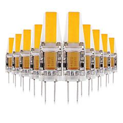 お買い得  LED 電球-YWXLIGHT® 10個 3W 200-300lm G4 LED2本ピン電球 2 LEDビーズ COB 装飾用 LEDライト 温白色 クールホワイト ナチュラルホワイト 12V 12-24V