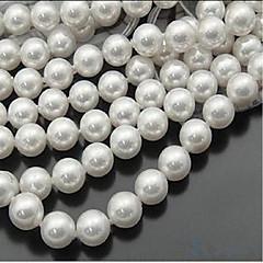 Недорогие Женские украшения-Ювелирные изделия DIY 46 штук Бусины Искусственный жемчуг Белый Круглый Шарик 0.8 cm DIY Ожерелье Браслеты