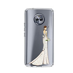 olcso Motorola tokok-Case Kompatibilitás Motorola E4 Plus 5 Minta Fekete tok Szexi lány Puha TPU mert Moto X4 Moto E4 Plus Moto E4