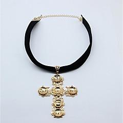 preiswerte Halsketten-Damen Anhängerketten - Kreuz Klassisch, Modisch Gold Modische Halsketten 1 Für Alltag