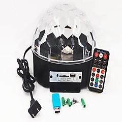 tanie Oświetlenie wewnętrzne-1kpl 16W 9 Diody LED Pilot zdalnego sterowania Oświetlenie LED sceniczne RGB AC 100-240V