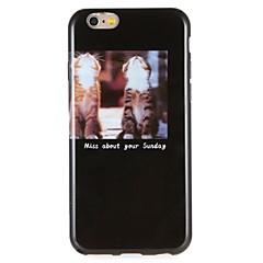 Недорогие Кейсы для iPhone 6-Кейс для Назначение Apple iPhone 6 iPhone 7 С узором Кейс на заднюю панель Соблазнительная девушка Вид на город Мягкий ТПУ для iPhone 7