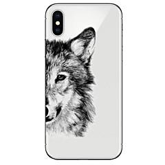 Недорогие Кейсы для iPhone-Кейс для Назначение Apple iPhone X / iPhone 8 Ультратонкий / Прозрачный / С узором Кейс на заднюю панель Животное Мягкий ТПУ для iPhone X / iPhone 8 Pluss / iPhone 8