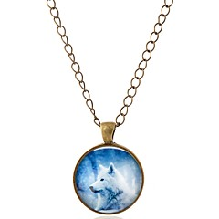 preiswerte Halsketten-Damen Anhängerketten - Wolf Böhmische, Boho Bronze Modische Halsketten 1 Für Karnival, Büro & Karriere