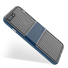 Недорогие Кейсы для iPhone-Кейс для Назначение Apple iPhone 8 Plus iPhone 7 Plus Защита от удара Прозрачный Полосы / волосы Мягкий для