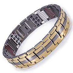 abordables Bijoux pour Femme-Homme Chaînes & Bracelets Bracelet Hologramme Bracelet Magnétique - Bracelet Or / Noir / Argent Pour Casual Quotidien