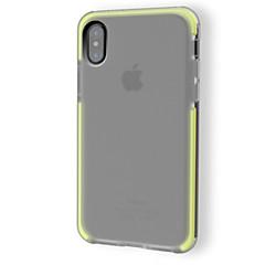 Недорогие Кейсы для iPhone-Кейс для Назначение Apple iPhone X Защита от удара Полупрозрачный Сплошной цвет Мягкий для
