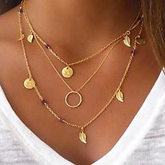 preiswerte Halsketten-Damen Mehrschichtig Anhängerketten / Layered Ketten - Blattform Mehrlagig Gold Modische Halsketten N / A Für Party, Geschenk