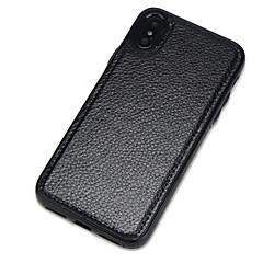 Недорогие Кейсы для iPhone-Кейс для Назначение Apple iPhone X iPhone 8 Защита от пыли Кейс на заднюю панель Сплошной цвет Твердый Кожа PU для iPhone X iPhone 8