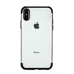 Недорогие Кейсы для iPhone-Кейс для Назначение Apple iPhone X iPhone 8 Покрытие Прозрачный Кейс на заднюю панель Сплошной цвет Мягкий ТПУ для iPhone X iPhone 8