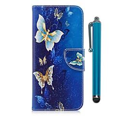 abordables -Coque Pour Motorola G5 Plus G5 Porte Carte Portefeuille Avec Support Clapet Magnétique Coque Intégrale Papillon Dur faux cuir pour Moto