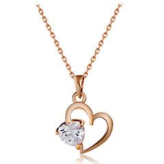 preiswerte Halsketten-Damen Kubikzirkonia Anhängerketten - Roségold, Zirkon Herz Klassisch, Modisch Gold Modische Halsketten Schmuck 1 Für Hochzeit, Party