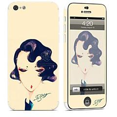 tanie Naklejki na iPhona-1 szt. Naklejka na obudowę na Odporne na zadrapania Seksowna dziewczyna Wzorki PVC iPhone 5c
