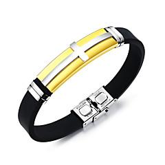 preiswerte Armbänder-Herrn Armreife / ID Armband - Edelstahl Kreuz Modisch Armbänder Gold / Schwarz / Silber Für Alltag / Ausgehen
