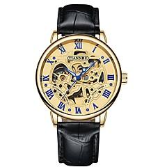 preiswerte Herrenuhren-Herrn Totenkopfuhr Japanisch Quartz 30 m Armbanduhren für den Alltag PU Band Analog Freizeit Schwarz / Braun - Schwarz / Weiß Braun / Gold Weiß / Braun