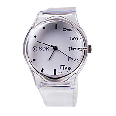 cheap Watch Deals-Women's Fashion Watch Japanese Casual Watch Rubber Band Elegant White