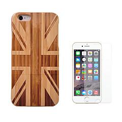 Недорогие Кейсы для iPhone-Кейс для Назначение Apple iPhone 6 iPhone 6 Plus Защита от удара Чехол Флаг Твердый Бамбук для iPhone 6s Plus iPhone 6s iPhone 6 Plus
