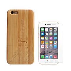 Недорогие Кейсы для iPhone-Кейс для Назначение Apple iPhone 6 iPhone 6 Plus Защита от удара Чехол Эйфелева башня Твердый Бамбук для iPhone 6s Plus iPhone 6s iPhone