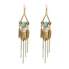 preiswerte Ohrringe-Damen Türkis Tropfen-Ohrringe - Türkis Blattform Retro, Modisch Gold / Silber Für Ausgehen / Bar