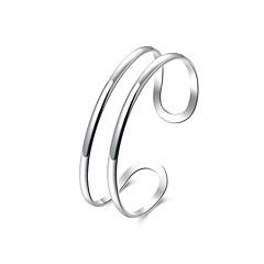 Недорогие Браслеты-Муж. Браслет цельное кольцо - Мода Браслеты Серебряный Назначение Подарок Повседневные