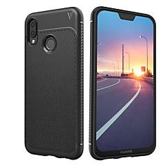 olcso Huawei tokok-Case Kompatibilitás Huawei P20 lite P20 Ütésálló Jeges Fekete tok Egyszínű Puha TPU mert Huawei P20 lite Huawei P20 Pro