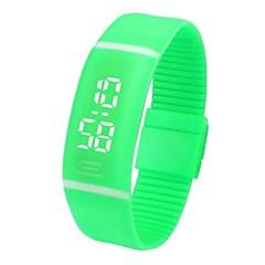 preiswerte Armbanduhren für Paare-Herrn Paar Armbanduhren für den Alltag Sportuhr Modeuhr Digital Kalender Nachts leuchtend Armbanduhren für den Alltag Caucho Band digital Freizeit Schwarz / Weiß / Blau - Rot Grün Blau
