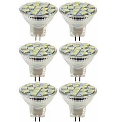 economico Lampadine LED-SENCART 6pcs 80W 5W 260 lm MR11 Faretti LED MR11 15 leds SMD 5060 Decorativo Bianco caldo Luce fredda CC 12V