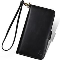Недорогие Кейсы для iPhone 6-Кейс для Назначение Apple iPhone X iPhone 7 Plus Бумажник для карт Кошелек Защита от удара Чехол Сплошной цвет Твердый Кожа PU для iPhone