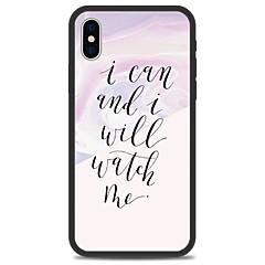 Недорогие Кейсы для iPhone 5-Кейс для Назначение Apple iPhone X iPhone 8 Plus С узором Кейс на заднюю панель Полосы / волосы Слова / выражения Мрамор Твердый Акрил для