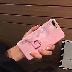 Недорогие Кейсы для iPhone-Кейс для Назначение Apple iPhone 7 iPhone 6 Защита от удара Кольца-держатели Кейс на заднюю панель Сплошной цвет Твердый ПК для iPhone 7