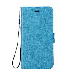Недорогие Чехлы и кейсы для Motorola-Кейс для Назначение Motorola G5 G5 Plus Бумажник для карт Кошелек со стендом Флип Чехол Сплошной цвет Твердый Кожа PU для Мото G5 Plus