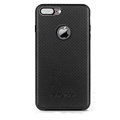 Недорогие Кейсы для iPhone-Кейс для Назначение Apple iPhone 7 Plus iPhone 7 Защита от удара Кейс на заднюю панель Сплошной цвет Твердый Настоящая кожа для iPhone 7