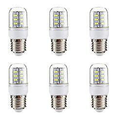 preiswerte LED-Birnen-BRELONG® 6pcs 3W 270lm E14 E26 / E27 LED Mais-Birnen 24 LED-Perlen SMD 5730 Warmes Weiß Weiß 220-240V