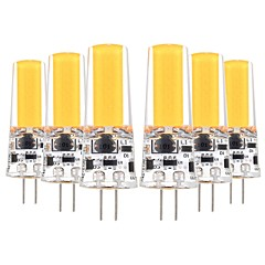 preiswerte LED-Birnen-YWXLIGHT® 6pcs 5W 400-500lm G4 LED Doppel-Pin Leuchten T 1 LED-Perlen COB Dekorativ Warmes Weiß Kühles Weiß 12V 12-24V