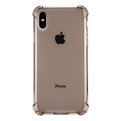 Недорогие Кейсы для iPhone-Кейс для Назначение Apple iPhone X iPhone 8 Защита от удара Прозрачный Кейс на заднюю панель Сплошной цвет Мягкий ТПУ для iPhone X iPhone