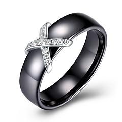 preiswerte Ringe-Damen Geometrisch Bandring - S925 Sterling Silber damas, Klassisch, Retro Schmuck Gold / Silber Für Alltag Arbeit 7 / 8